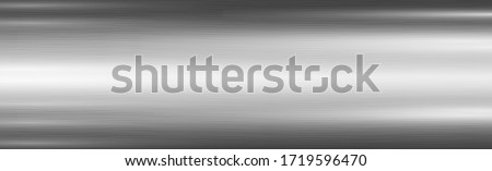 Texture - panorama silver metal background Foto d'archivio ©