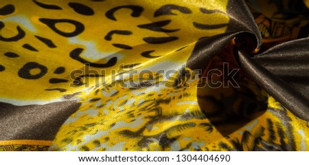 texture, pattern, background. leopard silk fabric. Screen printing on silk duck; This is a template for your accents. Create projects, wallpapers, postcards and more. Colors include brown and brown #1304404690