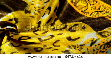 texture, pattern, background. leopard silk fabric. Screen printing on silk duck; This is a template for your accents. Create projects, wallpapers, postcards and more. Colors include brown and brown #1547324636