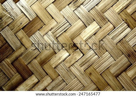 Texture pattern background, woven wood Photo of Texture pattern background, woven wood