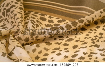 Texture, pattern, collection, silk fabric, African theme, animal skins, brown tones, Watercolor Background Photos Printed Props Princess Girl Birthday #1396691207