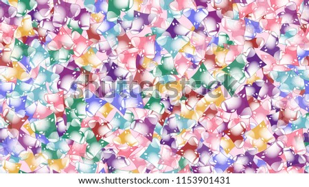 Texture pattern seamless from cheerful iridescent beautiful amorous gentle bright motley multicolored heartfelt festive favorite unique luxurious hearts. Back background illustration.