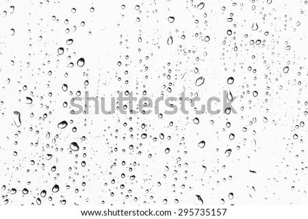 Texture Rain drops on the glass