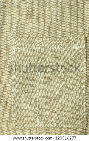 Texture sack sacking country background, sewing pocket
