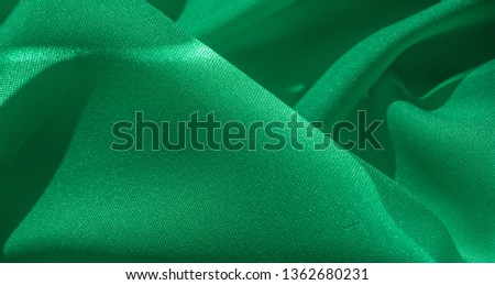 Texture, silk fabric of green color, solid light green silk satin fabric of the duchess Really beautiful silk fabric with satin sheen. Ideal for your design, Special Occasion Wedding Invitations