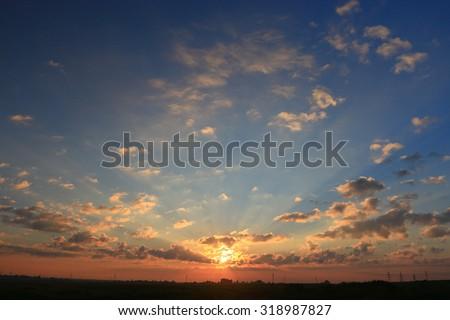 texture sky sunset clouds sun