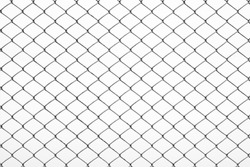 Texture the cage metal net isolate on white background.