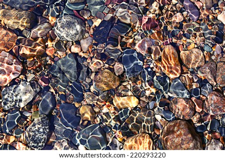 texture transparent clear waters of the sea lake #220293220