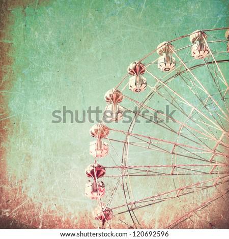 texture vintage ferris wheel...
