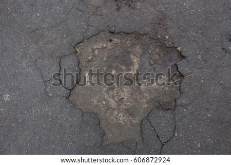 Texture wet asphalt #606872924