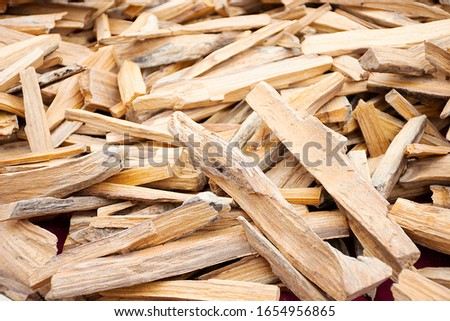 Texture with pile of wood chips