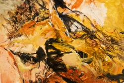 Textured abstract expressionist acrylic painting