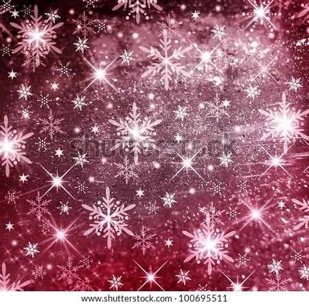 Textured and blur Christmas background with red stars