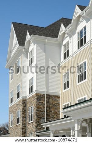 Textured Apartment Building