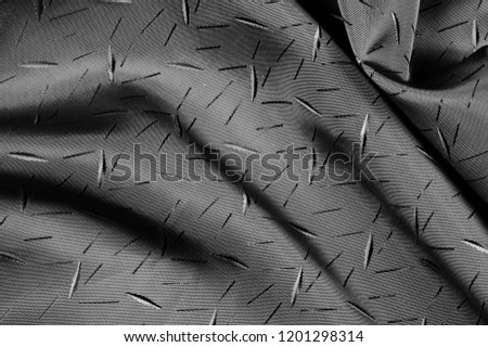 textured, background, drawing, Black silk fabric, Silk fabric Dupioni has a shiny luster and characteristic small blinds that pass horizontally across the fabric. #1201298314