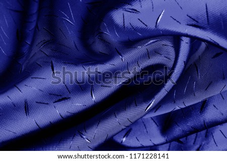 textured, background, drawing, blue silk fabric. The medium-density silk cloth to be recycled has a creped side and a satin side. It is ideal for creating contrasting elements in your design, #1171228141