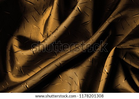Textured, background, Drawing, yellow brown silk fabric. This silk fabric has design Perfect for accents on design, wallpaper and home decor. Colors include shades of brown. #1178201308