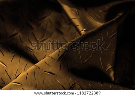 Textured, background, Drawing, yellow brown silk fabric. This silk fabric has design Perfect for accents on design, wallpaper and home decor. Colors include shades of brown. #1182722389