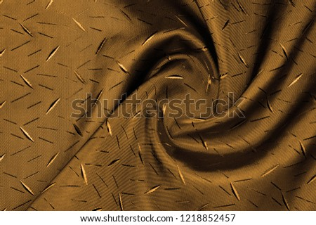 Textured, background, Drawing, yellow brown silk fabric. This silk fabric has design Perfect for accents on design, wallpaper and home decor. Colors include shades of brown. #1218852457