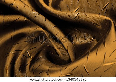 Textured, background, Drawing, yellow brown silk fabric. This silk fabric has design Perfect for accents on design, wallpaper and home decor. Colors include shades of brown. #1340348393