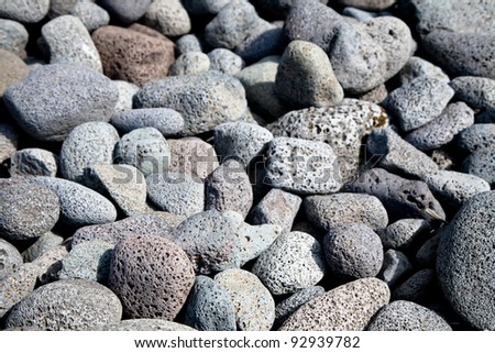Textured background of volcanic lava rocks