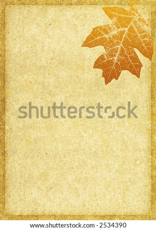 Textured Background with a Fall Leaf