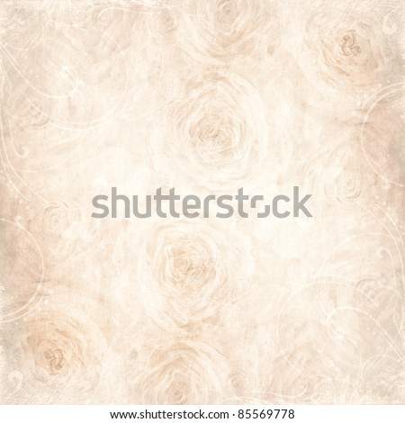 Textured  background with beige rose and space for text