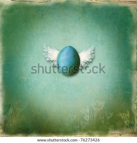 Textured background with illustration - stock photo