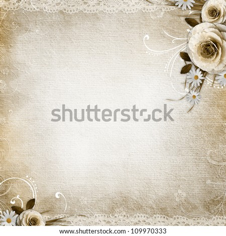 Textured Background with  roses