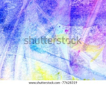Textured Blue & Purple Watercolor 1