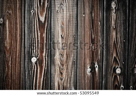 Textured Dark Wood Background with knots