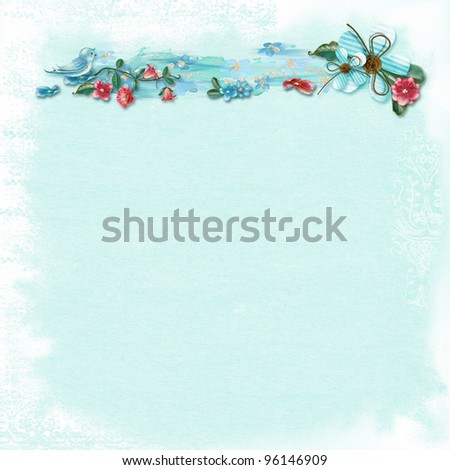 Textured decorated background