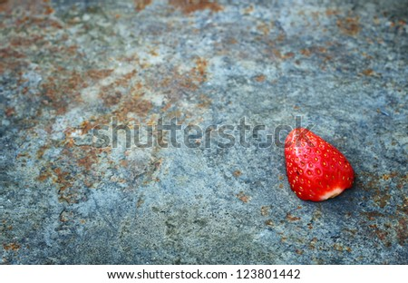 textured grunge background with strawberry