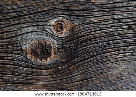 Textured natural background with grooves and knotty wood Stock photo ©