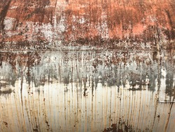 textured of the old rust oil tank background.