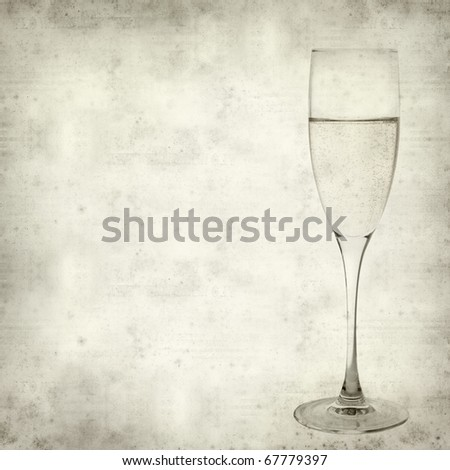 textured old paper background with champagne