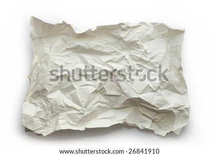 Textured paper on white background