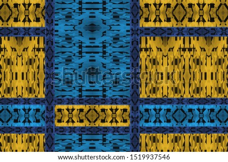 Textured pattern of a geometric African fabric