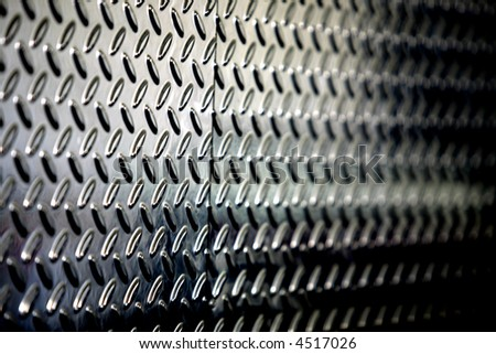 textured perforated metallic background