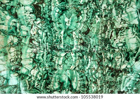 Textured smooth malahite background in shades of green.