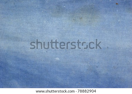 Textured striped blue jeans denim linen fabric background