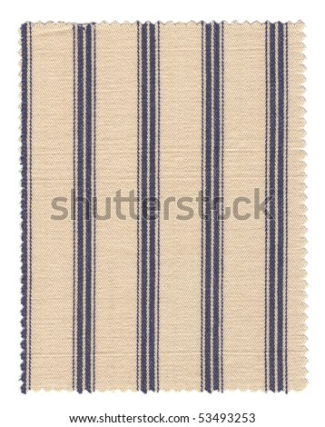 Textured Striped Cotton FabricSwatch