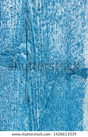 Textured wooden background of a rough rough blue board empty. Aged vintage material. Vertical frame. Copy space