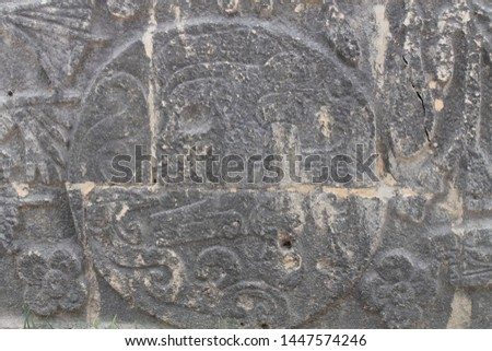 Textures and Patterns from Chichen Itza in Yucatan peninsula