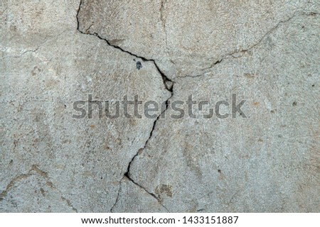 Textures cracked wall and floor with cracks background #1433151887