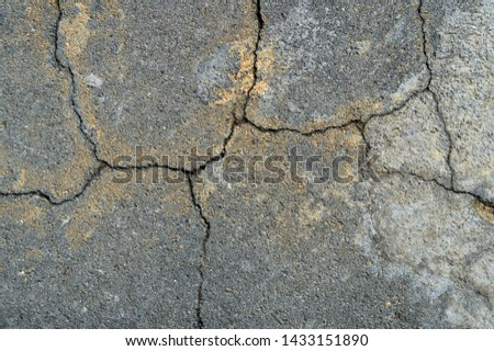 Textures cracked wall and floor with cracks background #1433151890