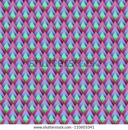 Thai Abstract Pattern papercraft  Background