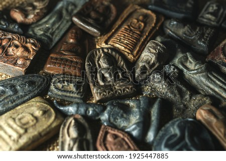 Thai amulets come in a wide variety of styles, Buddhist Sacred,Buddha amulets. Сток-фото ©