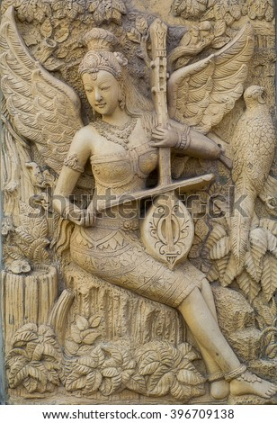 thai ancient stone carving