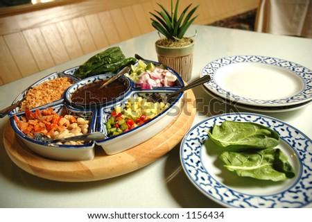 Thai appetizer miang kum